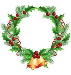 Christmas decorative wreath vector