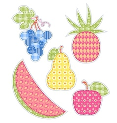Application fruits set vector
