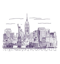 New york drawing vector