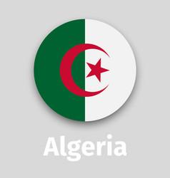algeria flag round icon vector image