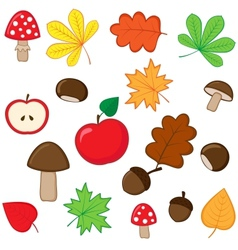 Autumnal set vector image