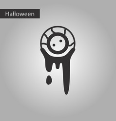 Black and white style icon halloween zombie eyes vector