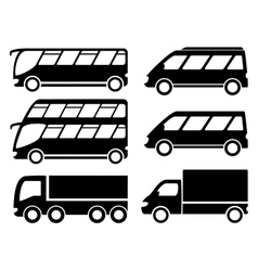 cargo transport set vector image vector image