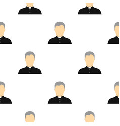 Catholic priest pattern flat vector