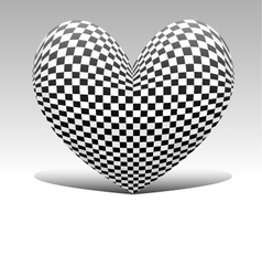 chess heart vector image vector image