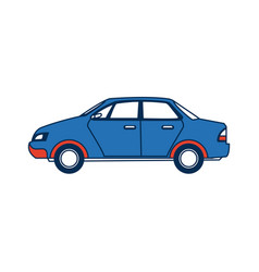 city car sedan automobile transport motor side vector image vector image