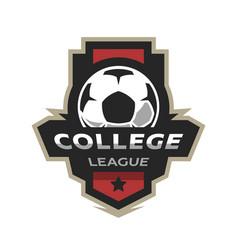College league soccer logo vector