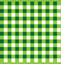 dark green and light green plaid fabric pattern vector image vector image