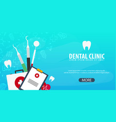Dental clinic and dentist medical background vector