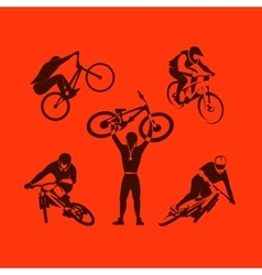 Extreme bicycle sport vector image vector image