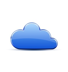Glossy cloud icon vector