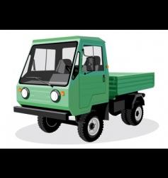 Green truck vector
