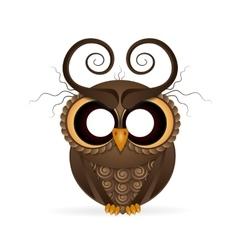 Halloween holiday crazy owl vector