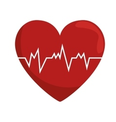 Heart rate pulse concept healthy vector