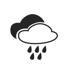 Heavy rain continuous mist fog weather forecast vector
