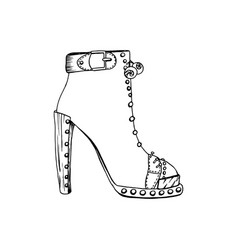 high-heeled shoes for woman fashion footwear vector image