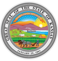 Kansas seal vector