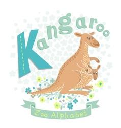 Letter K - Kangaroo vector image