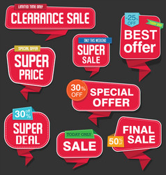 modern origami sale stickers and tags collection vector image