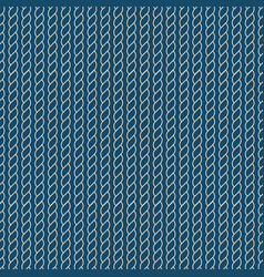 navy rope pattern vector image vector image