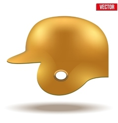 Orange baseball helmet vector
