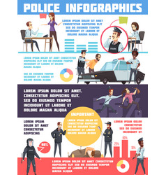 Police infographics layout vector