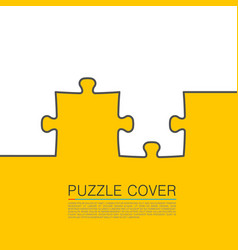 Puzzle cover art vector