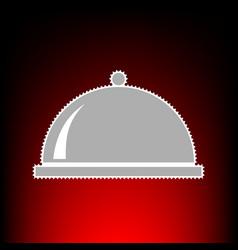 Server sign postage stamp or old vector