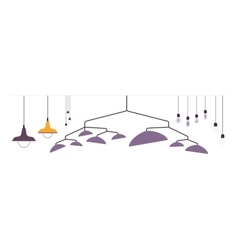 Set of pendant lamps vector