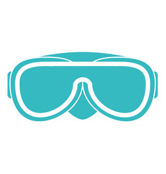Snorkel googles isolated icon vector