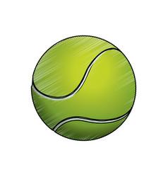 Tennis ball sport game vector