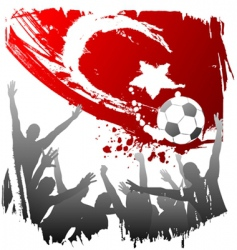 world cup turkey vector image vector image