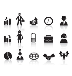 Set of business icon vector