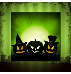 Halloween panel background green vector
