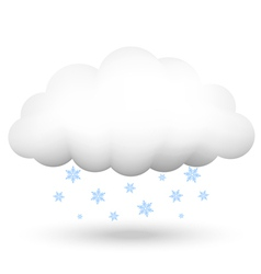 Cloud with snowflakes vector