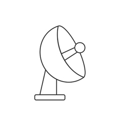 Isolated antenna design vector image