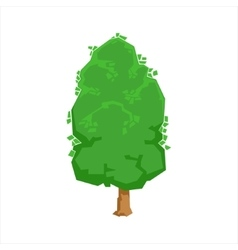 Green Oak Tree Woods Natural Landscape Design vector image
