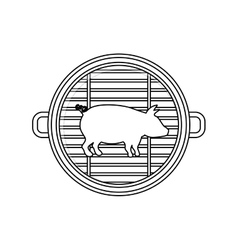 Isolated grill and pork meat design vector