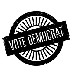 Vote democrat stamp vector