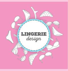 Lingerie background vector