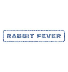 Rabbit fever textile stamp vector