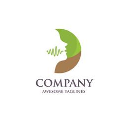 Speech therapy logo vector
