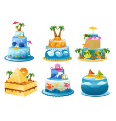 Holiday birthday cake vector