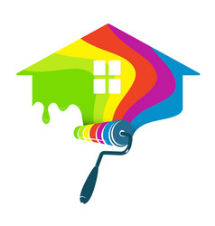 Painting home design business vector