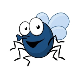 Flying fly insect with a proboscis vector image