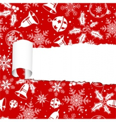 torn Christmas paper vector image