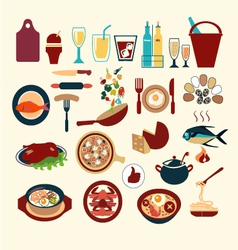 Food icon set 38 vector