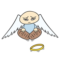 Sad angel vector
