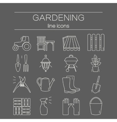 Gardening icons Unique and modern set isolated on vector image