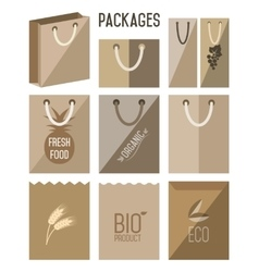 Bio pack eco pack icon vector image